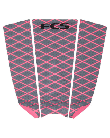 GREY BRIGHT PINK BOARDSPORTS SURF FCS TAILPADS - FSF01GRYBP
