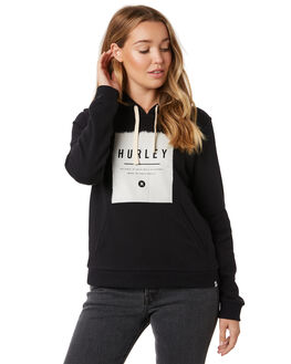BLACK WOMENS CLOTHING HURLEY JUMPERS - CI2917-010