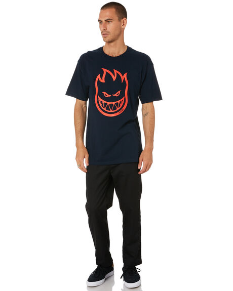 NAVY RED MENS CLOTHING SPITFIRE TEES - 51010001AYNYRD
