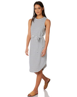 NAVY STRIPE WOMENS CLOTHING ELWOOD DRESSES - W84726NVYST