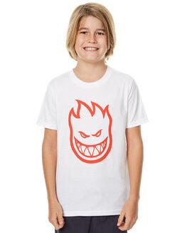 WHITE KIDS BOYS SPITFIRE TEES - 51010925VWHT