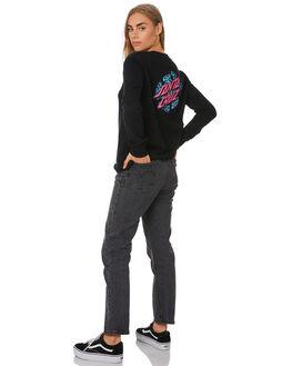 BLACK WOMENS CLOTHING SANTA CRUZ JUMPERS - SC-WFA0063BLK