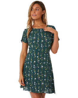 JUNGLE GREEN PRINT WOMENS CLOTHING ALL ABOUT EVE DRESSES - 6423091PRNT2