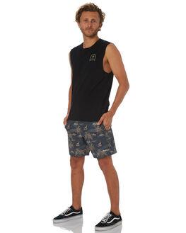 BLACK MENS CLOTHING RHYTHM SINGLETS - OCT18M-CT13-BLK