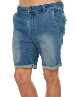 DARK BLUE MENS CLOTHING ACADEMY BRAND SHORTS - 18S694DBLU