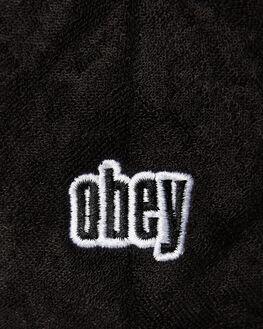 BLACK MENS ACCESSORIES OBEY HEADWEAR - 100140439BLK