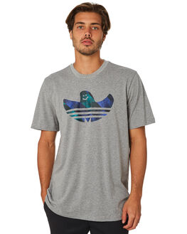 HEATHER BLACK BLUE MENS CLOTHING ADIDAS TEES - DU8363HBB