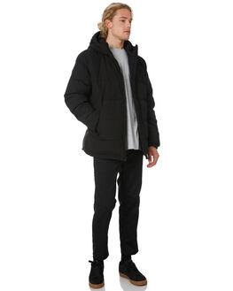 BLACK MENS CLOTHING HUFFER JACKETS - MDJA91S1401BLK