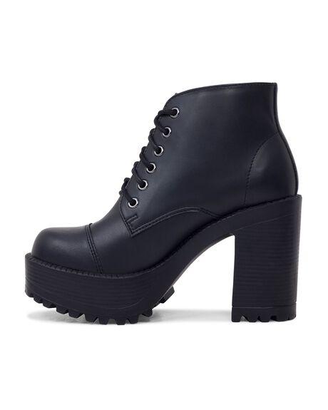BLACK VEGAN WOMENS FOOTWEAR ROC BOOTS BOOTS - PAMPASWV-BLKVGN-35