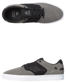 GREY BLACK WHITE MENS FOOTWEAR EMERICA SKATE SHOES - 6102000096-039