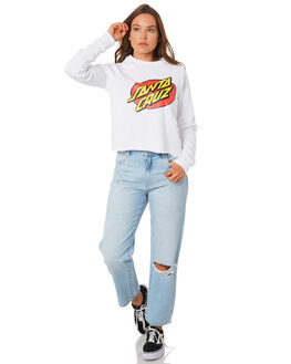 WHITE WOMENS CLOTHING SANTA CRUZ JUMPERS - SC-WFC9916WHI