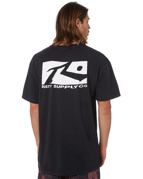 BLACK MENS CLOTHING RUSTY TEES - TTM2020BLK