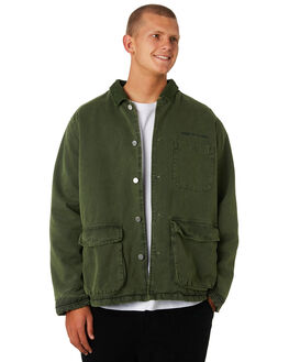 FLIGHT GREEN MENS CLOTHING STUSSY JACKETS - ST096507FLGRN