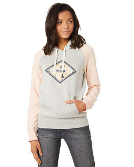 HEATHER GREY WOMENS CLOTHING HURLEY JUMPERS - AGFLK1905A