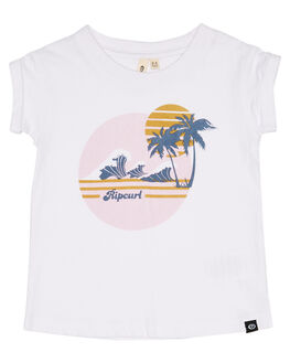 WHITE KIDS GIRLS RIP CURL TOPS - FTECD11000