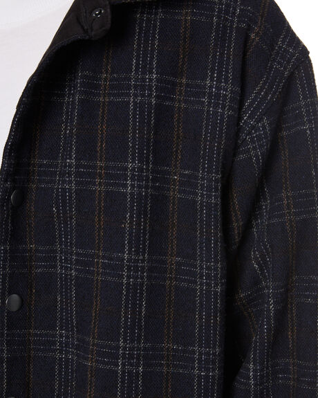 BLACK MENS CLOTHING RUSTY JACKETS - JKM0439BLK