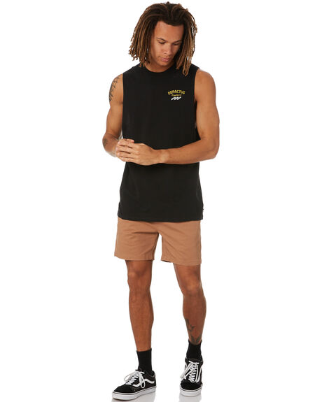 BLACK MENS CLOTHING DEPACTUS SINGLETS - D5222273BLK
