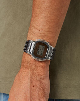 TRANSPARENT GREY MENS ACCESSORIES G SHOCK WATCHES - DW5600SK-1DTRGRY