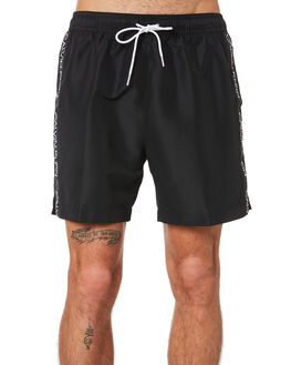 BLACK MENS CLOTHING CALVIN KLEIN BOARDSHORTS - KM00434-BEH