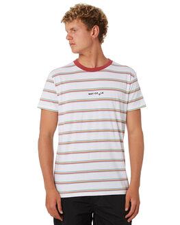 WHITE STRIPE MENS CLOTHING BARNEY COOLS TEES - 116-CC4WHTST