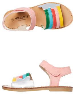 MULTI KIDS GIRLS WALNUT FOOTWEAR - RAINBOWMULTI