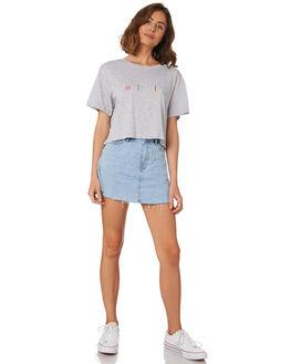 GREY MELANGE WOMENS CLOTHING COOLS CLUB TEES - 111-CW1GRY