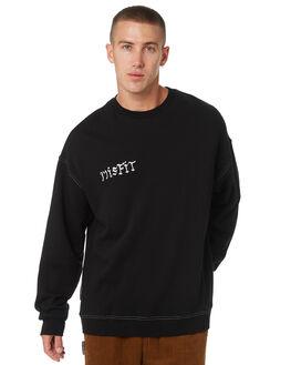 WASHED BLACK MENS CLOTHING MISFIT JUMPERS - MT095200WSBLK
