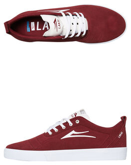 BURGUNDY MENS FOOTWEAR LAKAI SKATE SHOES - MS2190249A00BURG