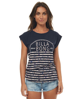 DEEP NAVY WOMENS CLOTHING BILLABONG TEES - 6572014DPN
