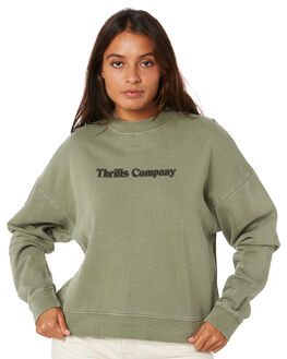 DUNE GREEN WOMENS CLOTHING THRILLS JUMPERS - WTW20-211FDGRN