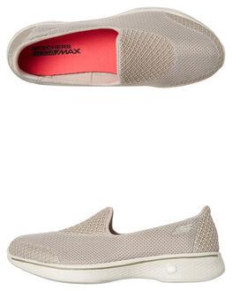 TAUPE WOMENS FOOTWEAR SKECHERS SLIP ONS - 14170TPE