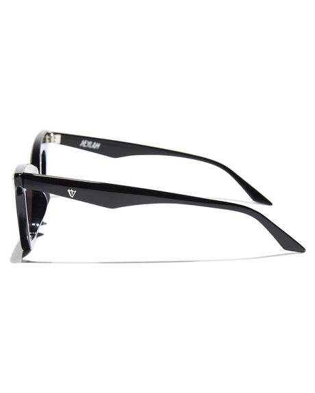 GLOSS BLACK WOMENS ACCESSORIES VALLEY SUNGLASSES - S0428GBLK