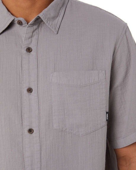 WASHED GREY MENS CLOTHING THRILLS SHIRTS - TR20-200GWGR