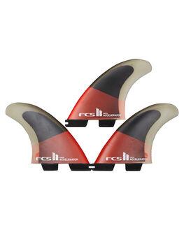 RED BLACK BOARDSPORTS SURF FCS FINS - FACC-PC04-TS-RRDBLK