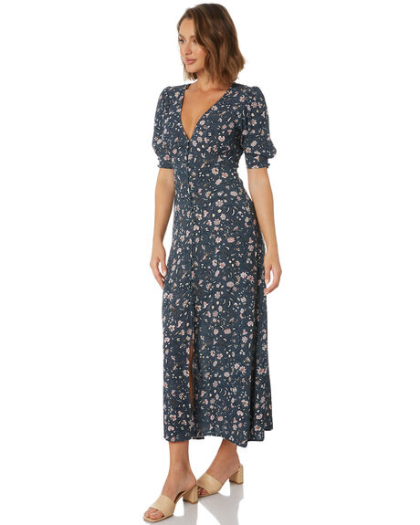 NAVY PEONY WOMENS CLOTHING TIGERLILY DRESSES - T611419U04