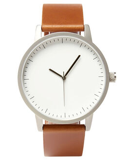 TAN SILVER WHITE MENS ACCESSORIES SIMPLE WATCH CO WATCHES - SW01-20SILVWH