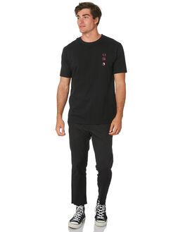 BLACK MENS CLOTHING TOWN AND COUNTRY TEES - TTE311BLK