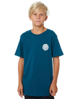 LEGION BLUE KIDS BOYS RIP CURL TOPS - KTEVW29664