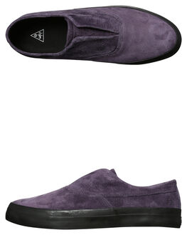 NIGHTSHADE MENS FOOTWEAR HUF SLIP ONS - VC00009NIGHT