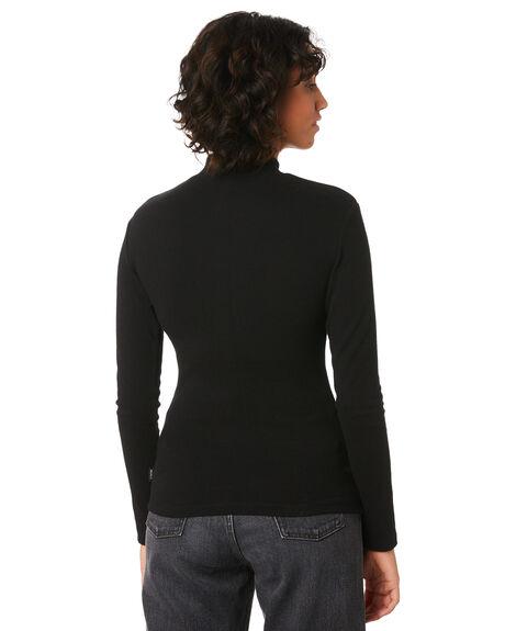 BLACK WOMENS CLOTHING RVCA FASHION TOPS - R293701BLK