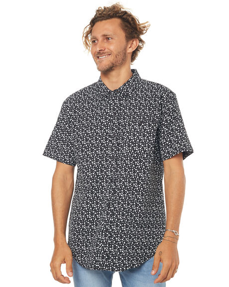BLACK MENS CLOTHING EZEKIEL SHIRTS - ES164036BLK