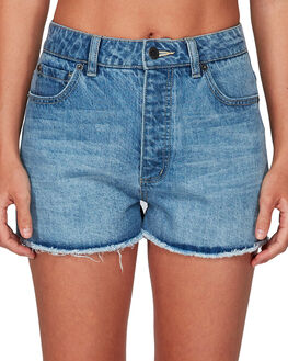VINTAGE BLUE WOMENS CLOTHING RVCA SHORTS - RV-R491311-V11