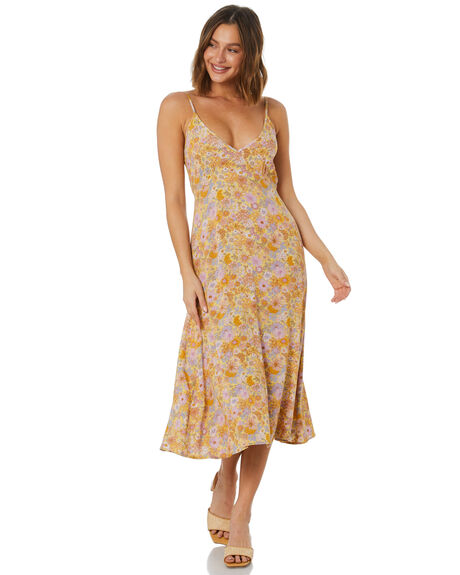 HERMOSA FLORAL WOMENS CLOTHING THE HIDDEN WAY DRESSES - H8222456HFLRL