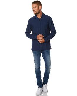 PRINCE BLUE MENS CLOTHING NUDIE JEANS CO SHIRTS - 140426PBLU
