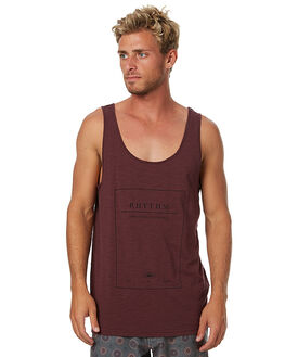 WINE MENS CLOTHING RHYTHM SINGLETS - APR17-SUS04WINE