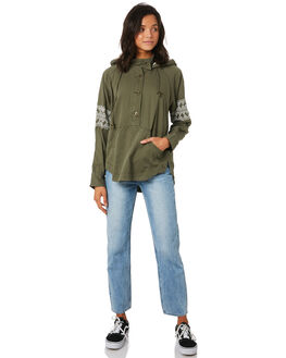 BURNT OLIVE WOMENS CLOTHING O'NEILL JACKETS - 53215146890