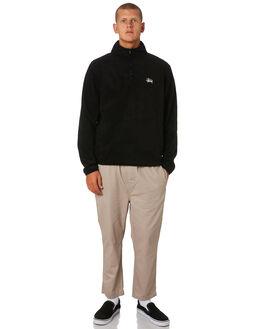 BLACK MENS CLOTHING STUSSY JUMPERS - ST096201BLACK