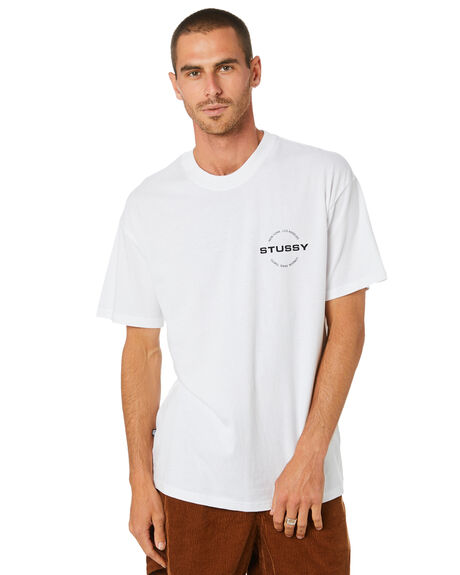 SOLID WHITE MENS CLOTHING STUSSY TEES - ST002010SWHT