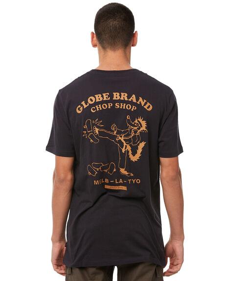 WASHED BLACK MENS CLOTHING GLOBE TEES - GB01830010WBLK