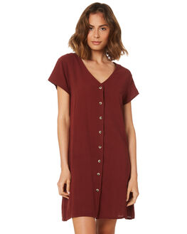 BLOOD RED WOMENS CLOTHING THRILLS DRESSES - WSMU8-910HRED